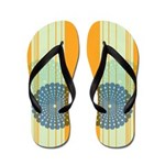 Circular Overlap Orange Flip Flops