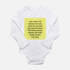 Carl Jung quotes Long Sleeve Infant Bodysuit