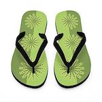 Spirofunk Green Flip Flops