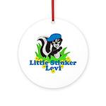 Little Stinker Levi Ornament (Round)