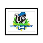 Little Stinker Levi Framed Panel Print