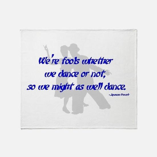 Swing Dance Fools Throw Blanket
