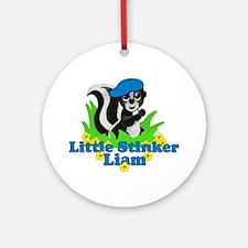 Little Stinker Liam Ornament (Round)
