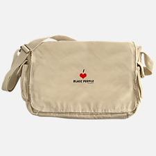 I love black people Messenger Bag