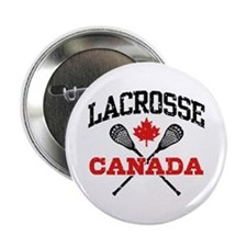 "Canadian Lacrosse 2.25"" Button"