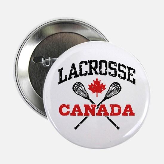 "Canadian Lacrosse 2.25"" Button"