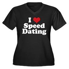 I Love Speed Dating Women's Plus Size V-Neck Dark