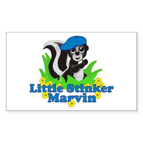 Little Stinker Marvin Sticker (Rectangle)
