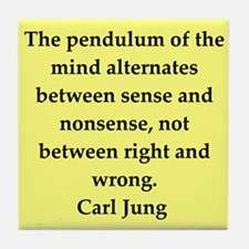 Carl Jung quotes Tile Coaster