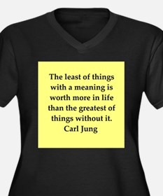 Carl Jung quotes Women's Plus Size V-Neck Dark T-S