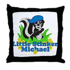Little Stinker Michael Throw Pillow