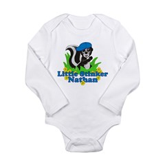 Little Stinker Nathan Long Sleeve Infant Bodysuit