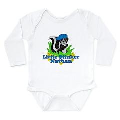 Little Stinker Nathan Long Sleeve Infant Bodysuit