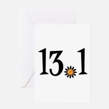 13.1 with orange flower Greeting Card