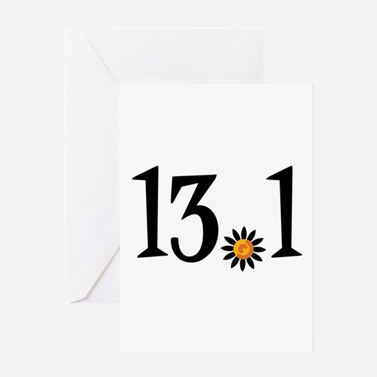 13.1 with orange flower Greeting Card
