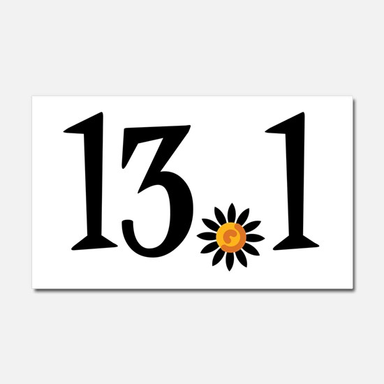 13.1 with orange flower Car Magnet 20 x 12