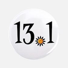 """13.1 with orange flower 3.5"""" Button"""