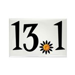 13.1 with orange flower Rectangle Magnet (10 pack)