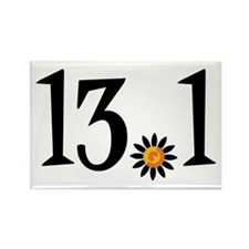 13.1 with orange flower Rectangle Magnet