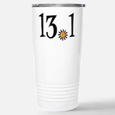 13.1 with orange flower Stainless Steel Travel Mug