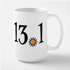 13.1 with orange flower Large Mug