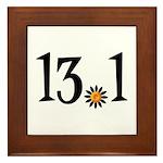 13.1 with orange flower Framed Tile