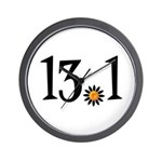 13.1 with orange flower Wall Clock