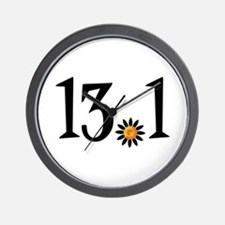 13.1 with orange flower Wall Clock