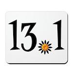 13.1 with orange flower Mousepad