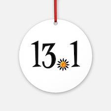 13.1 with orange flower Ornament (Round)