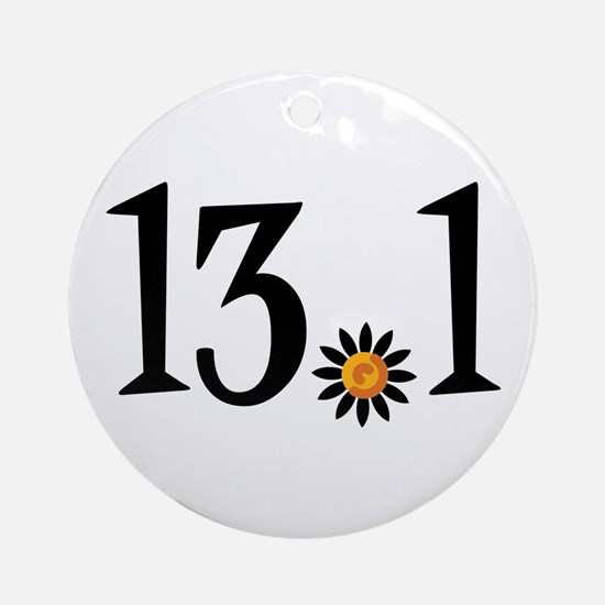 13.1 with orange flower Ornament (Round)