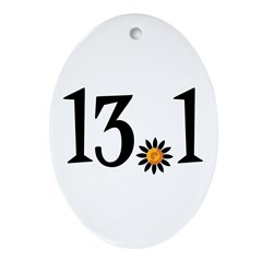 13.1 with orange flower Ornament (Oval)