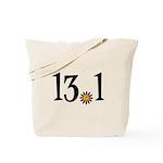 13.1 with orange flower Tote Bag