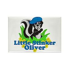 Little Stinker Oliver Rectangle Magnet