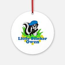 Little Stinker Owen Ornament (Round)