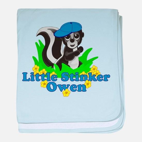 Little Stinker Owen baby blanket