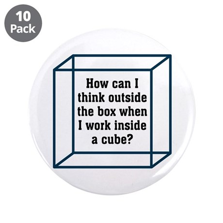 """Outside The Box 3.5"""" Button (10 pack)"""
