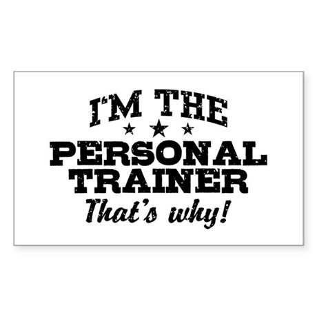 Funny Personal Trainer Sticker (Rectangle)