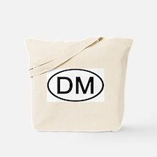 DM - Initial Oval Tote Bag