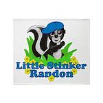 Little Stinker Randon Throw Blanket