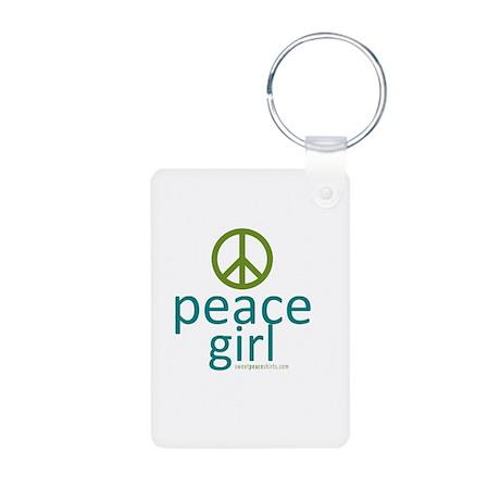 Peace Girl Aluminum Photo Keychain