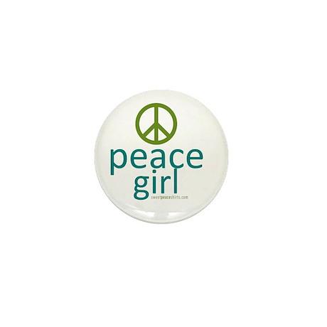 Peace Girl Mini Button (10 pack)