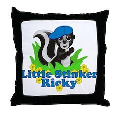 Little Stinker Ricky Throw Pillow