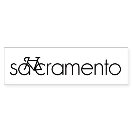 Bike Sacramento Sticker (Bumper)