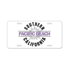 Pacific Beach California Aluminum License Plate
