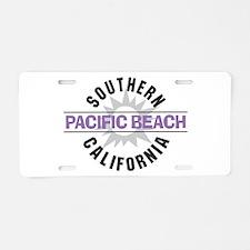 Pacific Beach California Aluminum License Plate