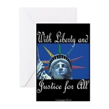 Rainbow Liberty for All Greeting Cards (Package of