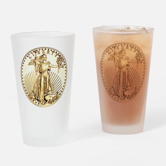 The Liberty Gold Coin Drinking Glass