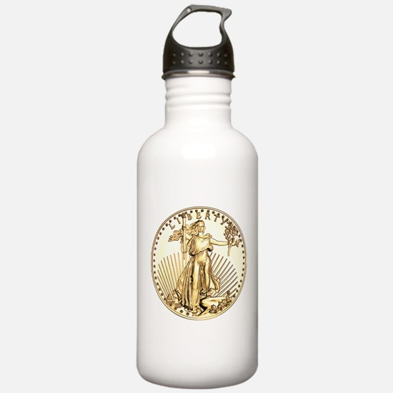 The Liberty Gold Coin Water Bottle