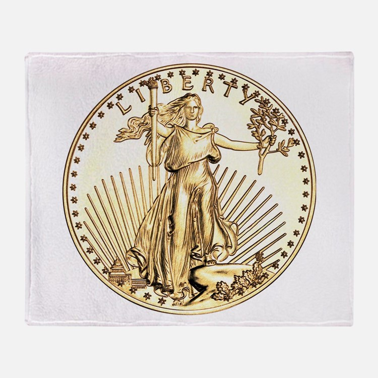 The Liberty Gold Coin Throw Blanket